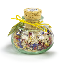 Blüemli Salz im Geschenkglas