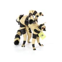 Lemur mit Baby, Raphiabast