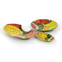 Schale handbemalt Früchtesujet