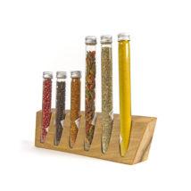 Holzständer  für Glasröhrchen