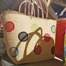 Einkaufstasche Raphia mit Muster